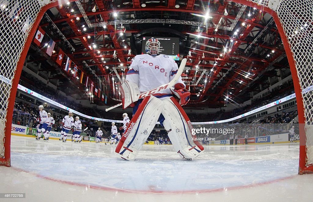 Lars Haugen of Norway in action during the 2014 IIHF World Championship between France and Norway at Chizhovka arena on may 17,2014 in Minsk, Belarus.