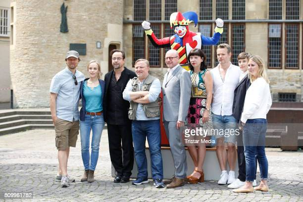 Lars Jessen Friederike Kempter Jan Josef Liefers Axel Prahl Markus Lewe Jutta Mueller Thorsten Wettcke Viktoria Mayer and Nina Klamroth during the...