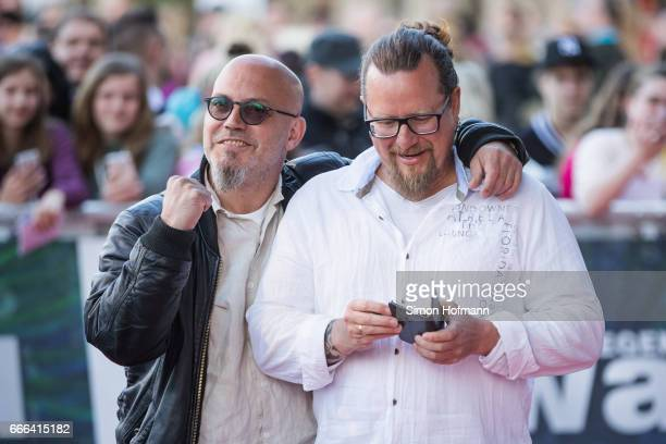 Lars Niedereichholz and Andre Werner of the comedy duo Mundstuhl attend the Radio Regenbogen Award 2017 at Europapark on April 7 2017 in Rust Germany