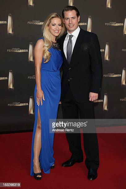 Lars Ricken and Andrea Kaiser arrive for the German TV Award 2012 at Coloneum on October 2 2012 in Cologne Germany