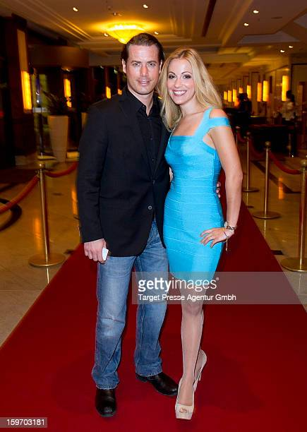 Lars Ricken and his wife Andrea Kaiser attend the Fitness First New You Achievement Awards at the Maritim Hotel on January 18 2013 in Berlin Germany