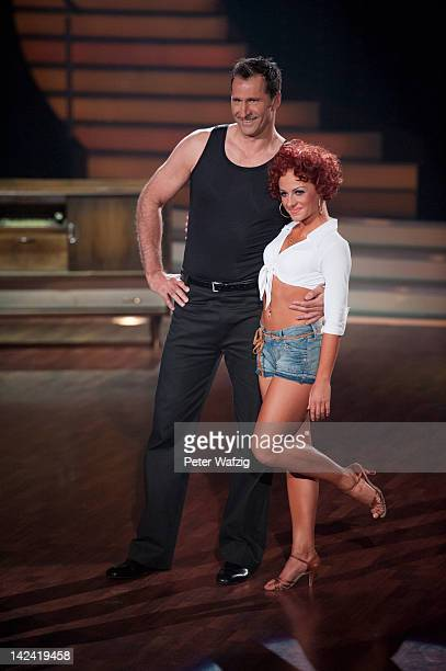 Lars Riedel and Marta Arndt perform during 'Let's Dance' 4th Show at Coloneum on April 04 2012 in Cologne Germany