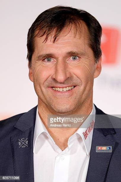 Lars Riedel is seen in the studio of the RTL Telethon TV show on November 25 2016 in Cologne Germany The telethon is held every year and is on air...
