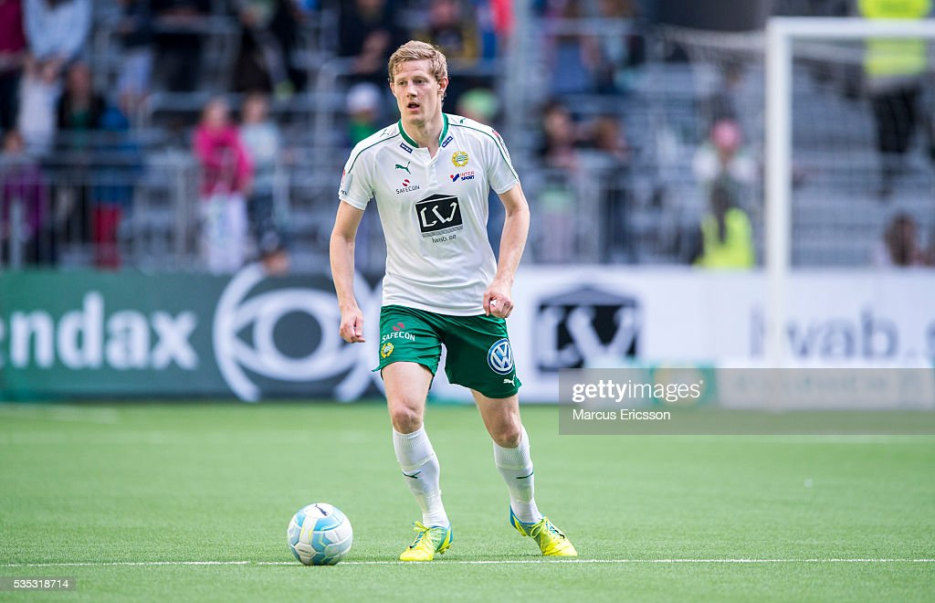 Lars Saetra of Hammarby IF during the Allsvenskan match between Hammarby IF and Gefle IF at Tele2 Arena on May 29, 2016 in Stockholm, Sweden.