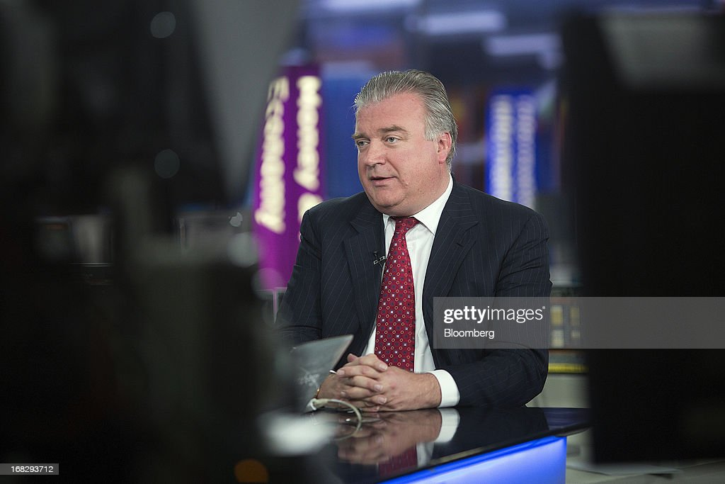 Lars Seier Christensen, co-chief executive officer of Saxo Bank A/S, speaks during a Bloomberg Television interview in London, U.K., on Tuesday, May 7, 2013. Denmark's haven status has forced the central bank in Copenhagen to lower rates to unprecedented lows as policy makers defend the krone's peg to the euro. Photographer: Simon Dawson/Bloomberg via Getty Images