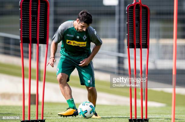 Lars Stindl during a training session of Borussia Moenchengladbach at BorussiaPark on July 26 2017 in Moenchengladbach Germany