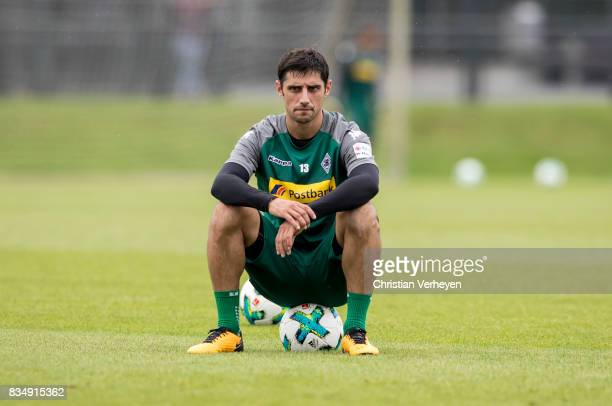 Lars Stindl during a Training session of Borussia Moenchengladbach at BorussiaPark on August 18 2017 in Moenchengladbach Germany