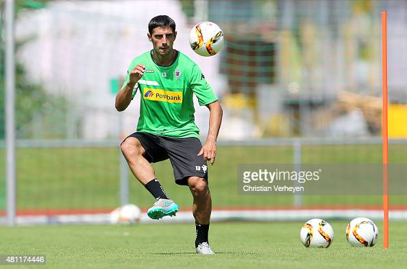Lars Stindl of Borussia Moenchengladbach controls the ball during a training session at day five of Borussia Moenchengladbach training camp on July...