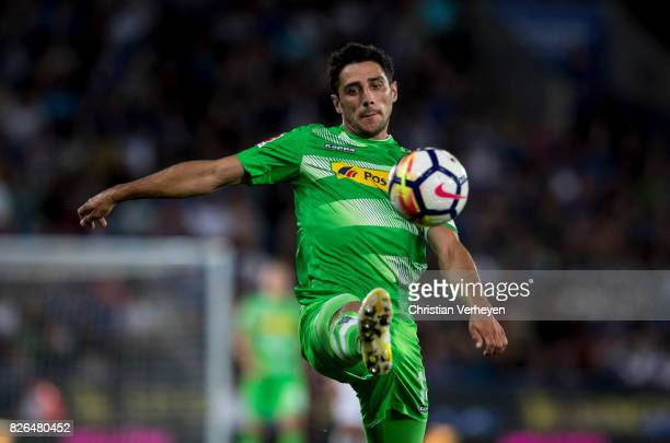 Lars Stindl of Borussia Moenchengladbach controls the ball during a friendly match between Leicester City and Borussia Moenchengladbach at King Power...