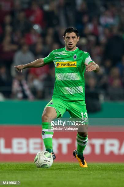 Lars Stindl of Borussia Moenchengladbach controls the ball during the DFB Cup match between Rot Weiss Essen and Borussia Moenchengladbach at Stadion...