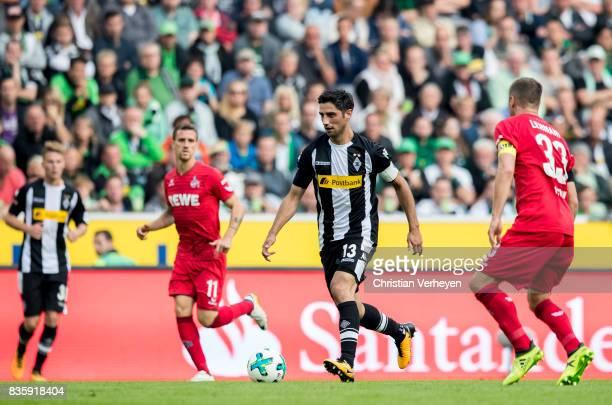 Lars Stindl of Borussia Moenchengladbach controls the ball during the Bundesliga match between Borussia Moenchengladbach and 1 FC Koeln at...