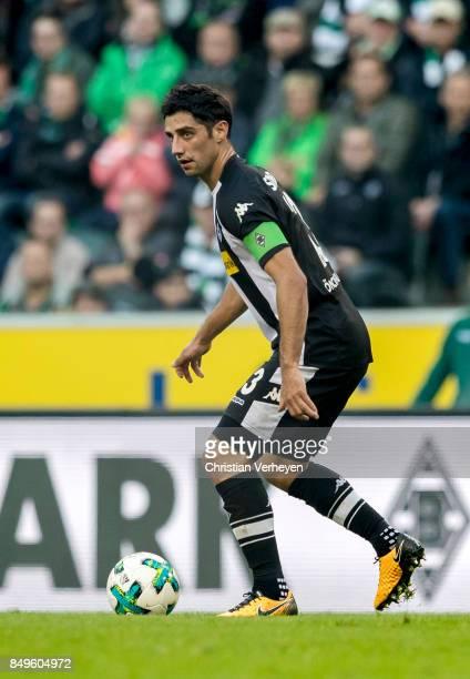 Lars Stindl of Borussia Moenchengladbach controls the ball during the Bundesliga match between Borussia Moenchengladbach and VfB Stuttgart at...
