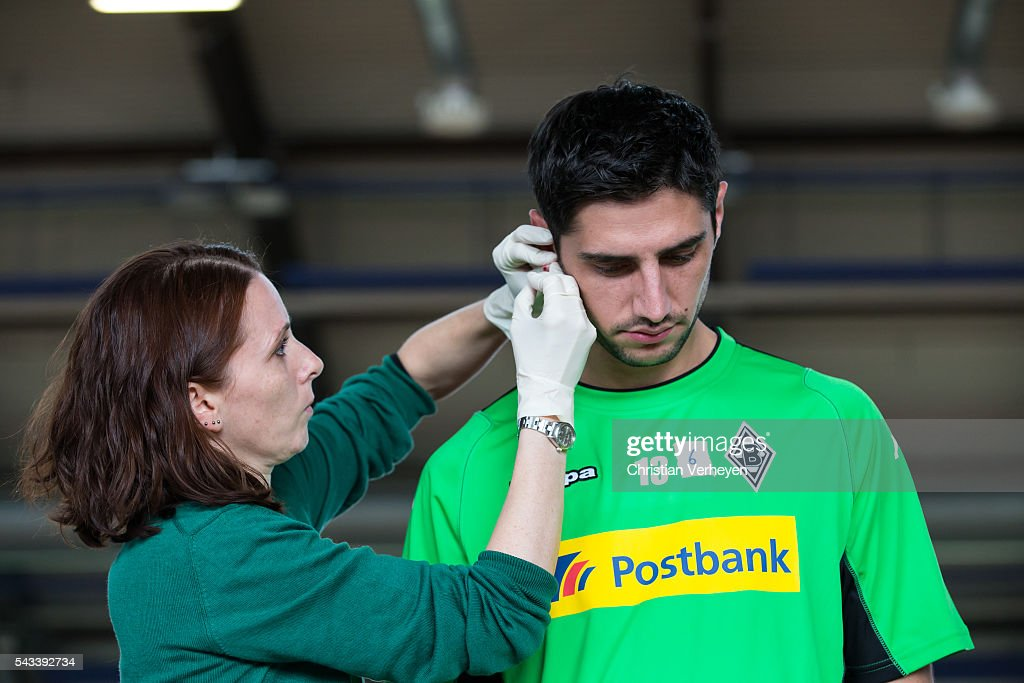 Lars Stindl of Borussia Moenchengladbach during a Lactate Test in Duesseldorf on June 28, 2016 in Moenchengladbach, Germany.