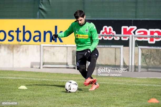 Lars Stindl of Borussia Moenchengladbach during a Training Session at BorussiaPark on March 22 2017 in Moenchengladbach Germany