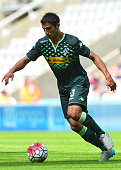 Lars Stindl of Borussia Moenchengladbach in action during the Pre Season Friendly between Newcastle United and Borussia Moenchengladbach at St James'...