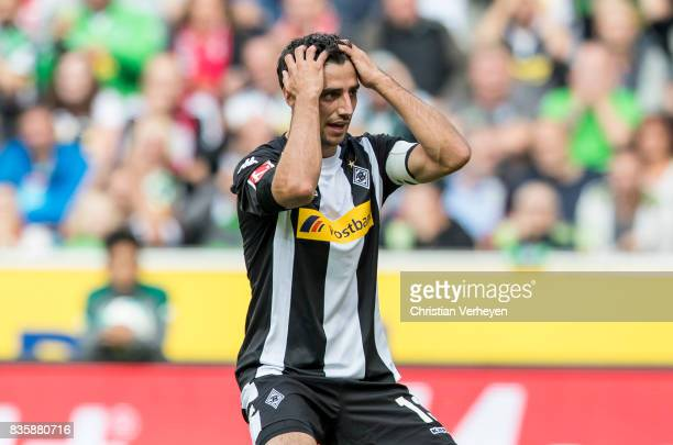 Lars Stindl of Borussia Moenchengladbach looks disappointed during of the Bundesliga match between Borussia Moenchengladbach and 1 FC Koeln at...