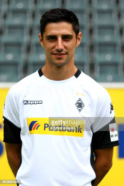 Lars Stindl of Borussia Moenchengladbach poses during the team presentation at Borussia Park on July 28 2017 in Moenchengladbach Germany