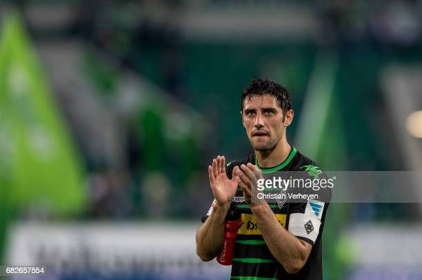 Lars Stindl of Borussia Moenchengladbach reacts after the Bundesliga Match between VfL Wolfsburg and Borussia Moenchengladbach at BorussiaPark on May...