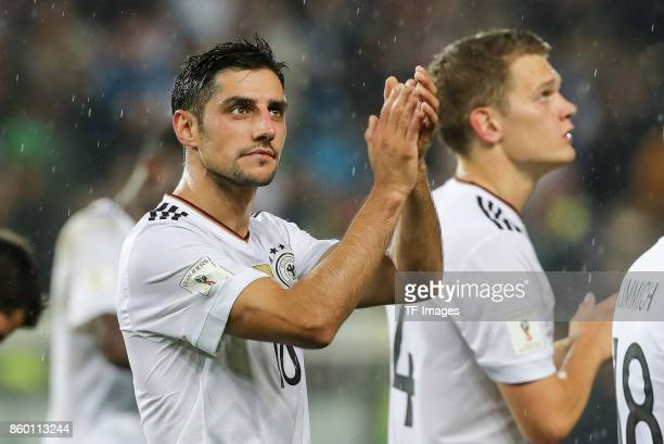Lars Stindl of Germany gestures during the FIFA 2018 World Cup Qualifier between Germany and Azerbaijan at FritzWalter Stadium on October 8 2017 in...