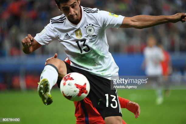 Lars Stindl of Germany in action during the Confederations Cup 2017 Final match Chile Germany at SaintPetersburg Stadium in St Petersburg Russia on...