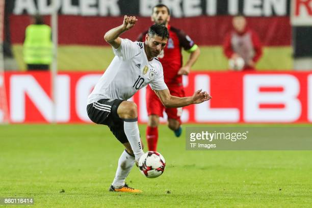 Lars Stindl of Germany in action during the FIFA 2018 World Cup Qualifier between Germany and Azerbaijan at FritzWalter Stadium on October 8 2017 in...