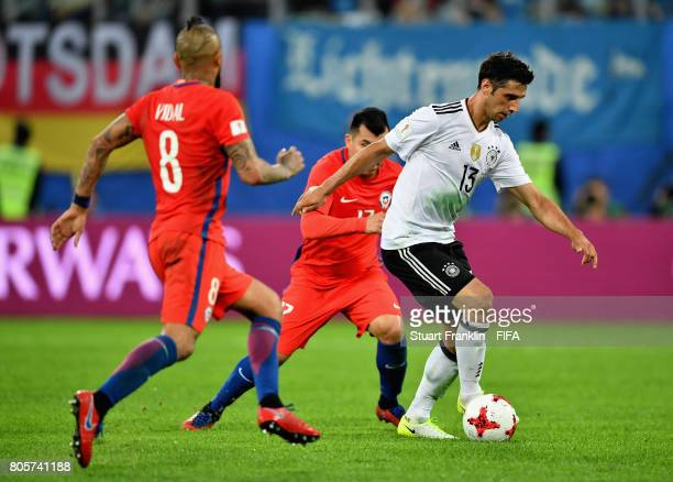 Lars Stindl of Germany in action during the FIFA Confederations Cup Russia 2017 Final between Chile and Germany at Saint Petersburg Stadium on July 2...