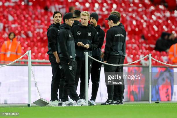 Lars Stindl of Germany Julian Brandt of Germany diskussion during the international friendly match between England and Germany at Wembley Stadium on...