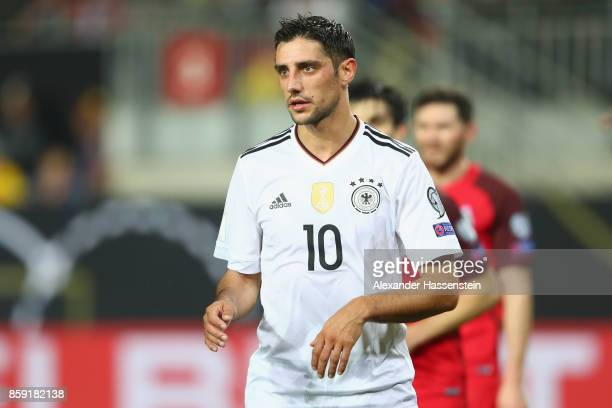 Lars Stindl of Germany looks on during the FIFA 2018 World Cup Qualifier between Germany and Azerbaijan at FritzWalterStadion on October 8 2017 in...