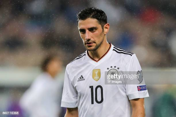 Lars Stindl of Germany looks on during the FIFA 2018 World Cup Qualifier between Germany and Azerbaijan at FritzWalter Stadium on October 8 2017 in...