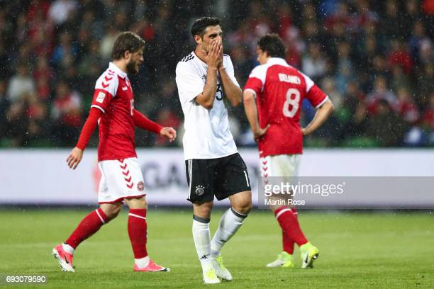 Lars Stindl of Germany reacts during the international friendly match between Denmark v Germany on June 6 2017 in Brondby Denmark