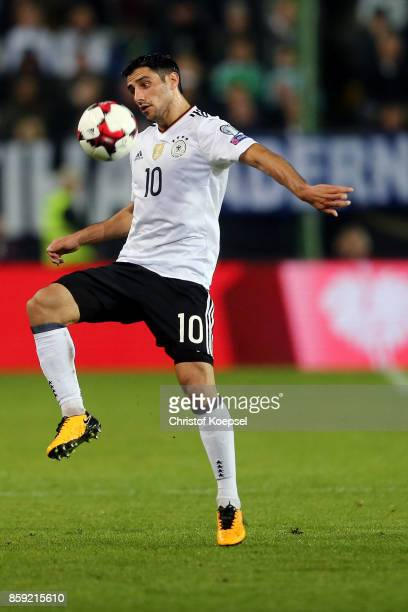 Lars Stindl of Germany runs with the ball during the FIFA 2018 World Cup Qualifier between Germany and Azerbaijan at FritzWalterStadion on October 8...