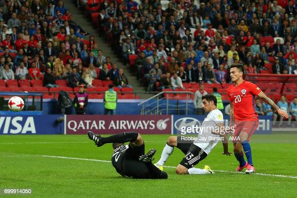 Lars Stindl of Germany scores a goal to make the score 11 during the FIFA Confederations Cup Russia 2017 Group B match between Germany and Chile at...