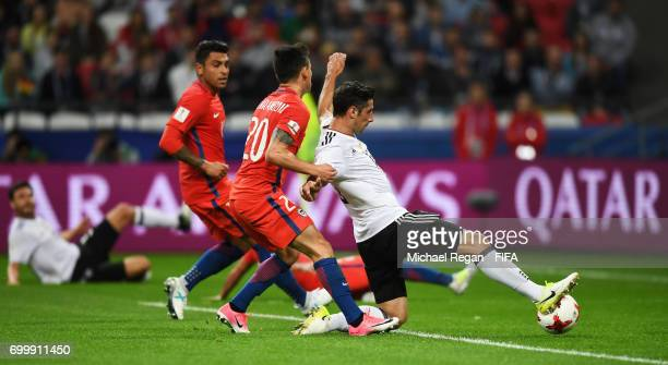 Lars Stindl of Germany scores his sides first goal during the FIFA Confederations Cup Russia 2017 Group B match between Germany and Chile at Kazan...