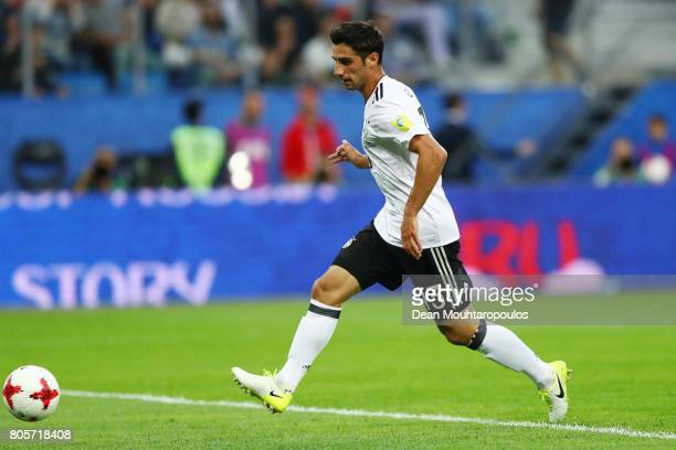 Lars Stindl of Germany scores his sides first goal during the FIFA Confederations Cup Russia 2017 Final between Chile and Germany at Saint Petersburg...