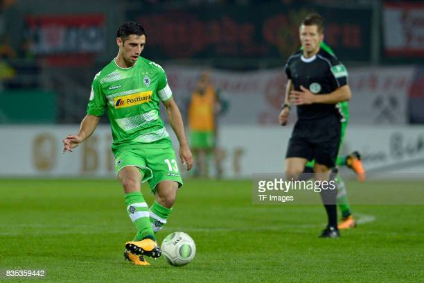 Lars Stindl of Gladbach in action during the DFB Cup match between Rot Weiss Essen and Borussia Moenchengladbach at Stadion Essen on August 11 2017...