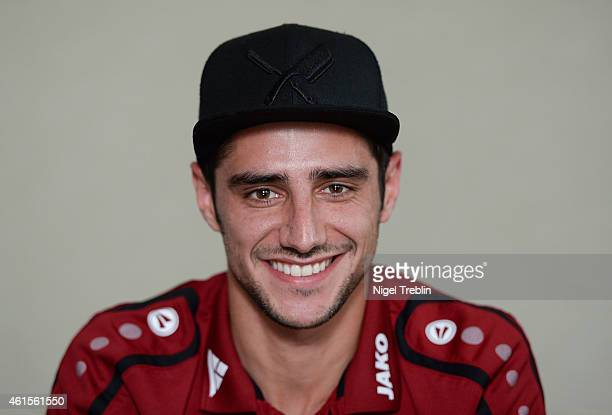 Lars Stindl of Hannover speaks during an interview during Hannover 96 training camp on January 15 2015 in Belek Turkey