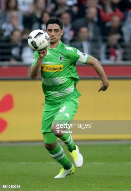 Lars Stindl of Mönchengladbach controls the ball during the Bundesliga Match between Eintracht Frankfurt and Borussia Moenchengladbach at Commerzbank...
