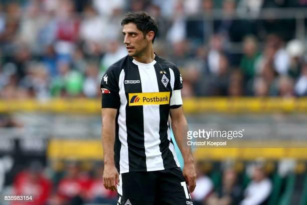 Lars Stindl of Mnchengladbach looks on during the Bundesliga match between Borussia Moenchengladbach and 1 FC Koeln at BorussiaPark on August 20 2017...