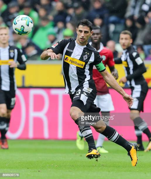 Lars Stindl of Moenchengladbach controls the ball during the Bundesliga match between Borussia Moenchengladbach and Hannover 96 at BorussiaPark on...