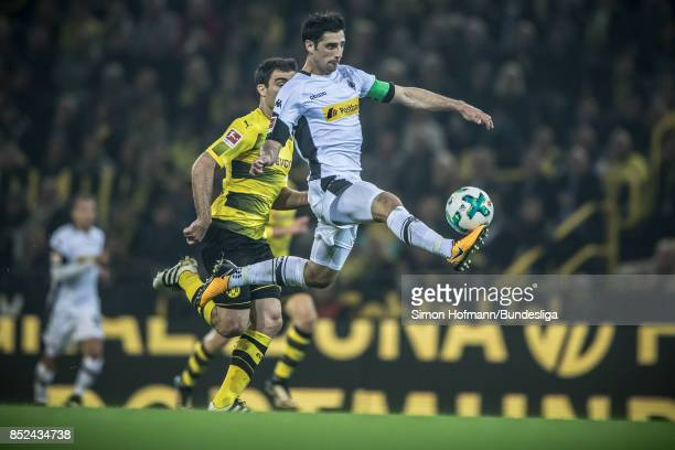 Lars Stindl of Moenchengladbach in action during the Bundesliga match between Borussia Dortmund and Borussia Moenchengladbach at Signal Iduna Park on...