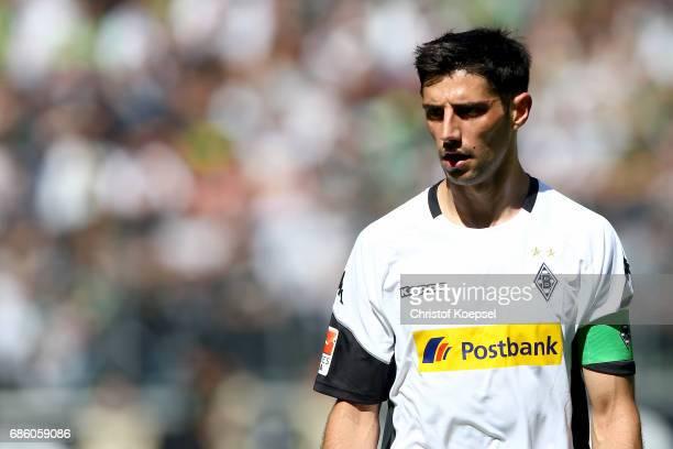 Lars Stindl of Moenchengladbach is seen during the Bundesliga match between Borussia Moenchengladbach and SV Darmstadt 98 at BorussiaPark on May 20...