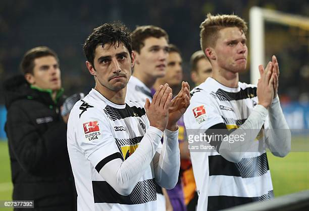 Lars Stindl of Moenchengladbach looks dejected after loosing during the Bundesliga match between Borussia Dortmund and Borussia Moenchengladbach at...