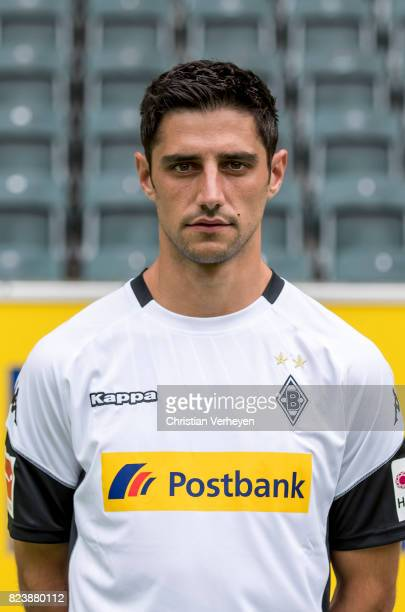 Lars Stindl pose during the team presentation of Borussia Moenchengladbach at BorussiaPark on July 28 2017 in Moenchengladbach Germany