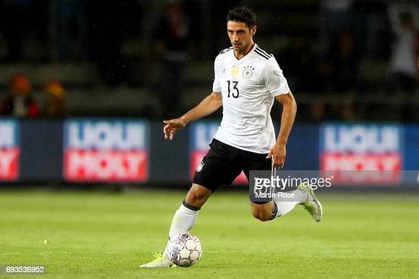 Lars Stindl runs with the ball during the International Friendly match between Denmark and Germany at Brondby Stadium on June 6 2017 in Brondby...