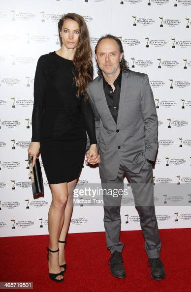 Lars Ulrich and guest arrive at the 2014 International 3D and Advanced Imaging Society's Creative Arts Awards held at Steven J Ross Theatre on...
