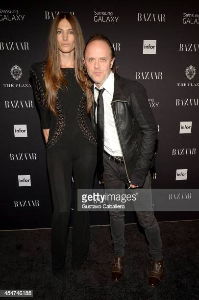 Lars Ulrich and guest attend Samsung GALAXY At Harper's BAZAAR Celebrates Icons By Carine Roitfeld at The Plaza Hotel on September 5 2014 in New York...