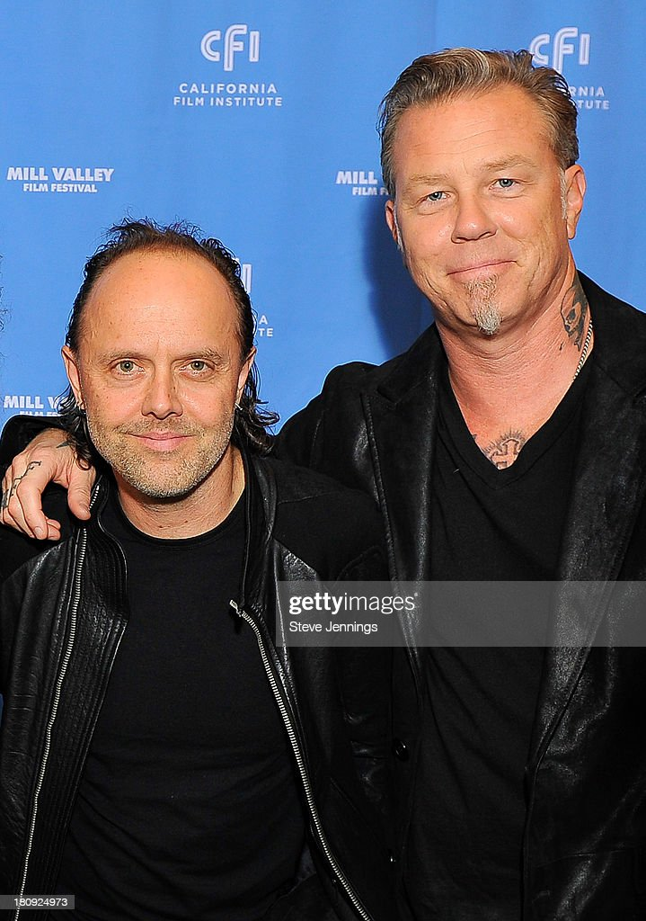 <a gi-track='captionPersonalityLinkClicked' href=/galleries/search?phrase=Lars+Ulrich&family=editorial&specificpeople=209281 ng-click='$event.stopPropagation()'>Lars Ulrich</a> and <a gi-track='captionPersonalityLinkClicked' href=/galleries/search?phrase=James+Hetfield&family=editorial&specificpeople=178297 ng-click='$event.stopPropagation()'>James Hetfield</a> of Metallica attend the 'Metallica Through The Never' U.S. Public Premiere and Special Advance 36th Annual Mill Valley Film Festival Kick-Off Event at Christopher B. Smith Rafael Film Center on September 17, 2013 in San Rafael, California.