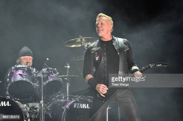 Lars Ulrich and James Hetfield of Metallica In Concert East Rutherford NJ on May 14 2017 in East Rutherford City