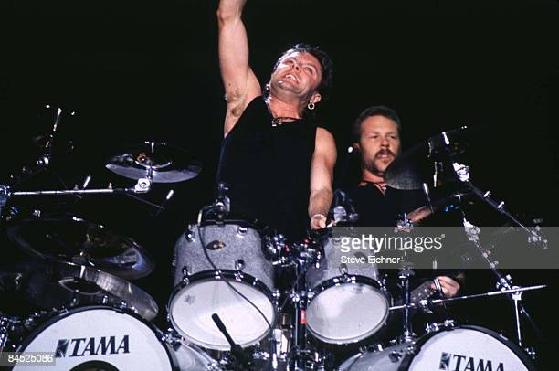 Lars Ulrich and James Hetfield of Metallica