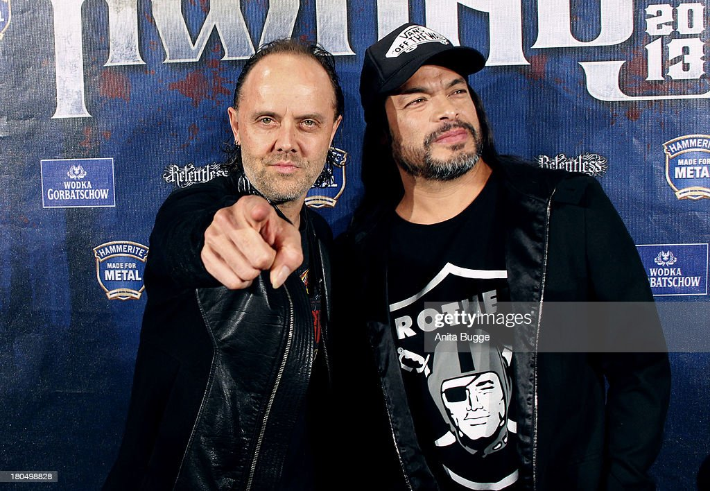 Lars Ulrich (L) and Robert Trujillo attend the Metal Hammer Awards 2013 at Kesselhaus on September 13, 2013 in Berlin, Germany.